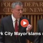 Watch New York Mayor Bill de Blasio blast disruptive misinforming reporter